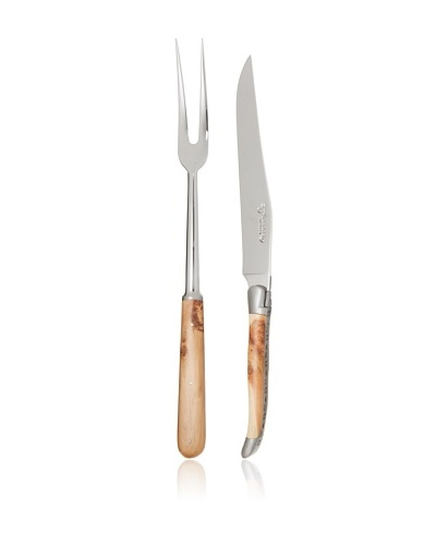 Laguiole en Aubrac 2-Piece Carving Set, Juniper Wood Handle