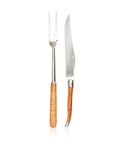 Laguiole en Aubrac 2-Piece Carving Set, Briar Root Handle