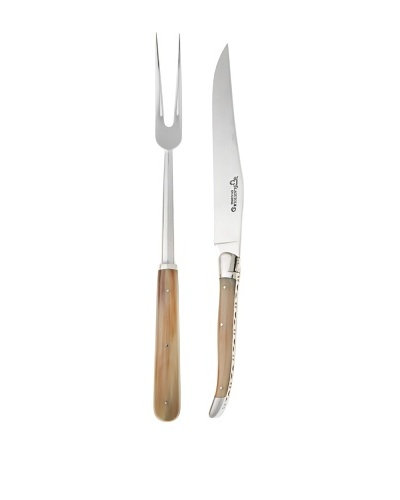 Laguiole en Aubrac 2-Piece Solid Horn Carving Set