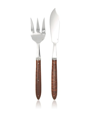 Laguiole en Aubrac Fish Serving Set, Amourette Wood