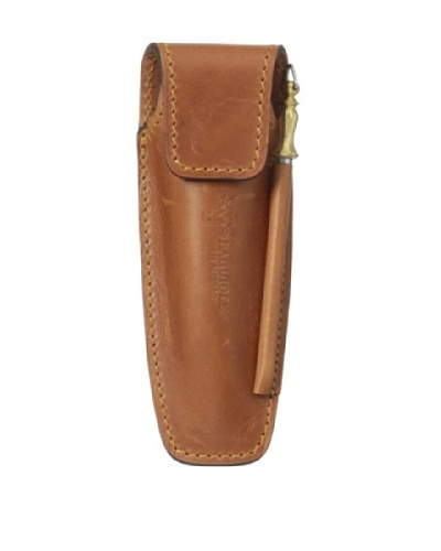 Laguiole en Aubrac Leather Holster For Folding Knife With Sharpener