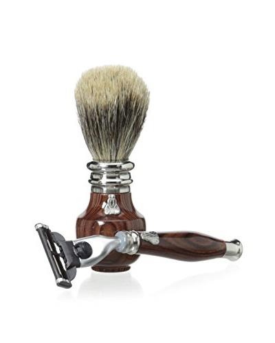 Laguiole en Aubrac Brush & Razor Set, Violette Wood