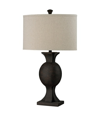 HGTV Home Abstract Artifact Table Lamp in Iron Textured Bronze Finish