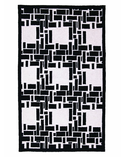 Trina Turk Bamboo Plaid Hook Rug
