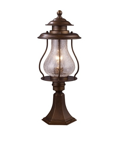 Landmark Wikshire 1-Light Outdoor Post-Mount Light, Coffee Bronze