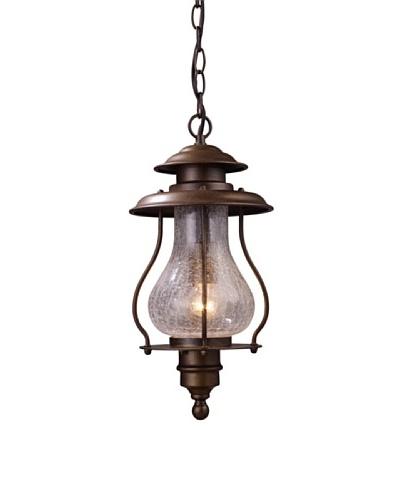 Landmark Wikshire 1-Light Outdoor Pendant, Coffee Bronze