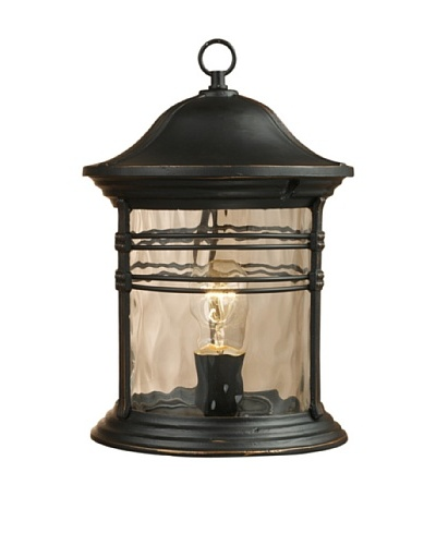 Landmark 08169-MBG Madison 1-Light Outdoor Post Light 16-Inch, Matte Black