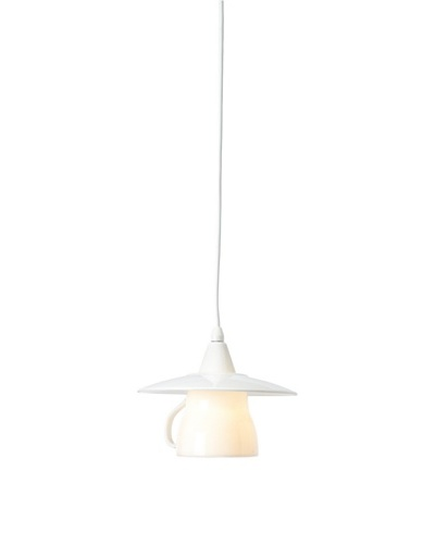 Laura Ashley Teacup Mini Pendant Lamp, White