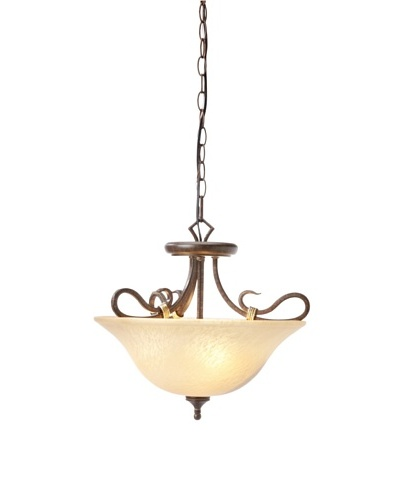 Laura Ashley Covey Semi-Flush Ceiling Light, Black Walnut