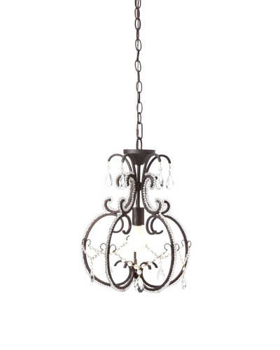 Laura Ashley Calista Mini Pendant Lamp, Coffee Black