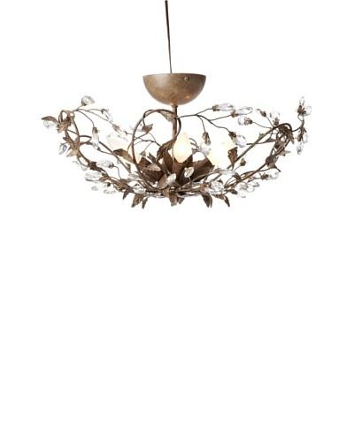 Laura Ashley Freya Flush-Mount Ceiling Light, Weathered Cognac