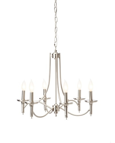 Laura Ashley Josephine 6-Light Chandelier, Silver