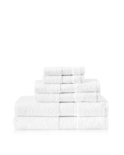 Laura Ashley 6-Piece Cotton Towel Set [White]