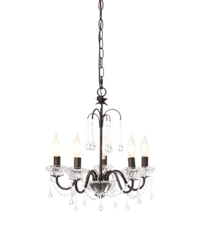 Laura Ashley Fountain 5-Light Chandelier, Oil-Burnished Bronze