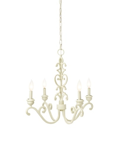 Laura Ashley Abbott Scroll Chandelier, Gilded Patina
