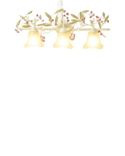 Laura Ashley Blossom 3-Light Wall Sconce, Antique Ivory