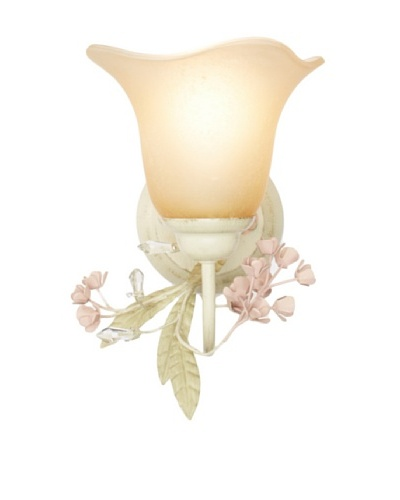 Laura Ashley Lighting Blossom 1 Light Wall Light, Antique Ivory