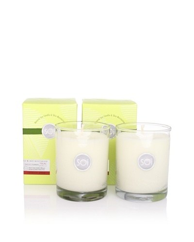 The SOI Company Set of 2 Crimson Apple 13.5-Oz. Luxe Boxed Highball Candle