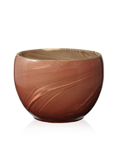 Lazy Susan Heartwood Red Swirled Clay Pot [Red]