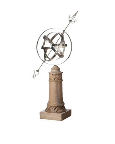 Lazy Susan Carved Wood Armillary
