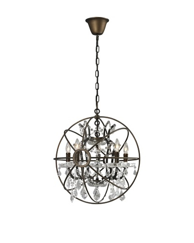 CDI Furniture Small Orb Chandelier, Rust