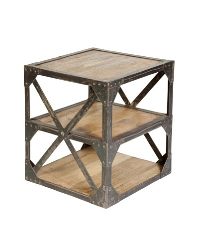 CDI Furniture Meuble d'Appoint Industrial Side Table, Natural