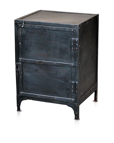 CDI Furniture Table de Nuit Industrial Night Stand, Aged Black