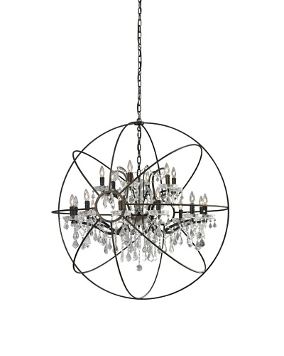 CDI Furniture Large Orb Chandelier, Rust