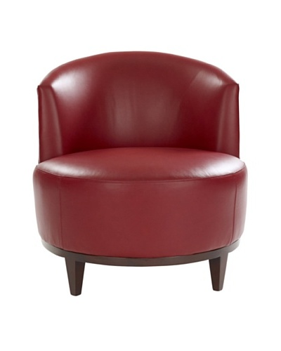 Leathercraft Accent Chair [Milan Lipstick]