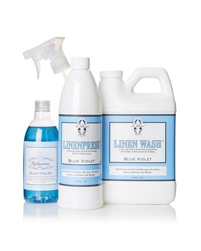 Le Blanc Linen Bath Bundle, Blue Violet, 64-Oz.