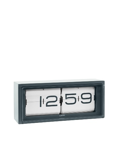 Leff Amsterdam Stainless Steel Wall/Desk Brick Clock, Grey