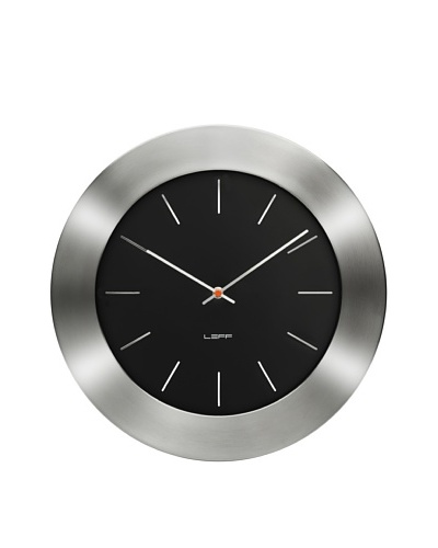 Leff Amsterdam Stainless Steel Bold Index Clock