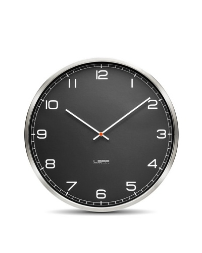 Leff Amsterdam Stainless Steel Arabic Clock