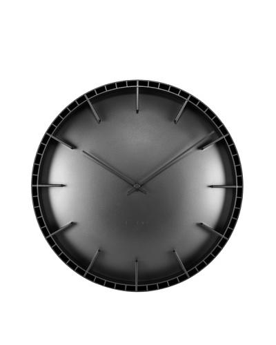 Leff Amsterdam Dome Wall Clock, Black