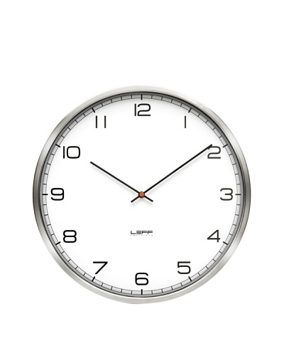 Leff Amsterdam Stainless Steel Arabic Clock, White