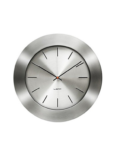 Leff Amsterdam Stainless Steel Bold Index Clock, Grey