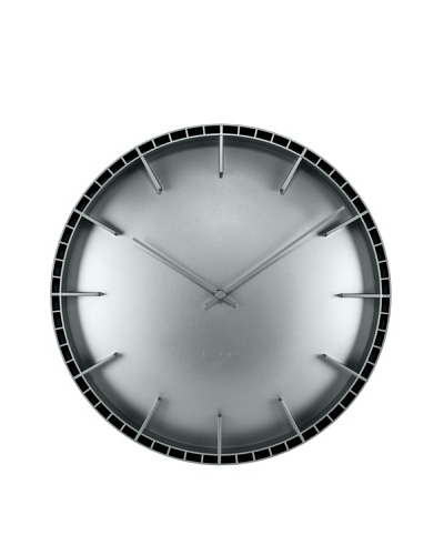 Leff Amsterdam Dome Wall Clock, Grey
