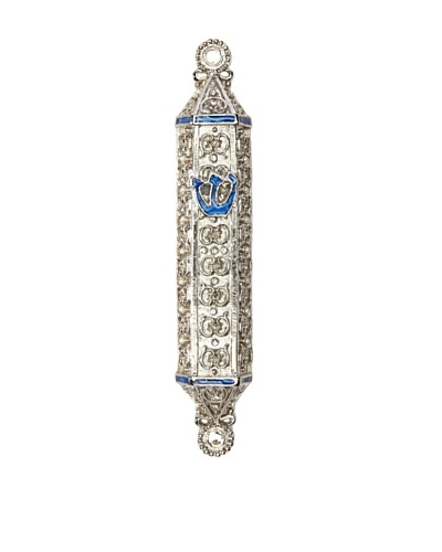 Legacy Judaica Cordoba Enameled Mezuzah, Royal Blue