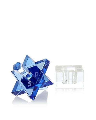 Legacy Judaica Star Crystal Dreidel, Blue