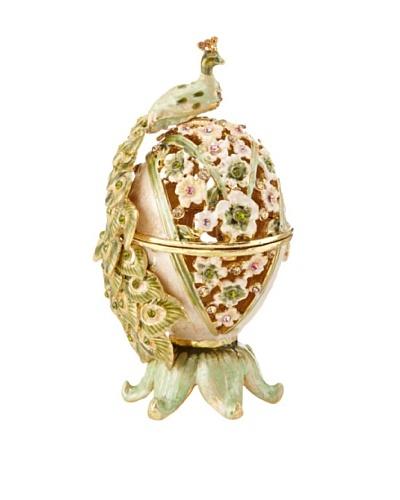 Legacy Judaica Jeweled Peacock Spice Box