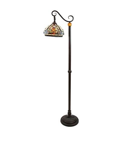 Legacy Lighting Baroque Floor Lamp, Burnished Walnut
