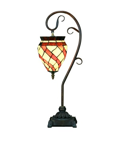 Legacy Lighting Spiral Windsock Accent Lamp, Coppered Bronze