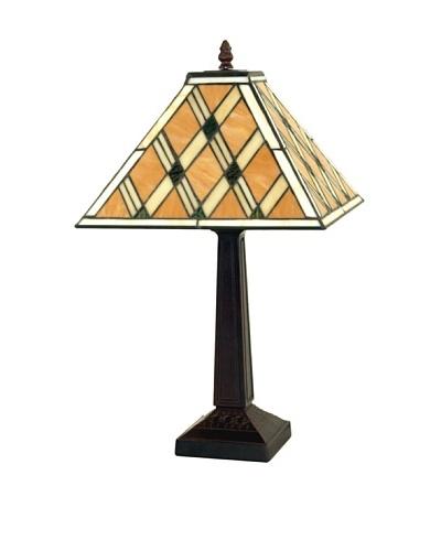Legacy Lighting Diamond Mission Table Lamp, Burnished Walnut