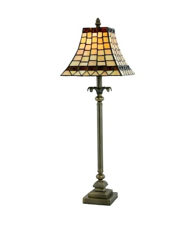 Legacy Lighting Treasured Opal Buffet Lamp, Vestige Brass