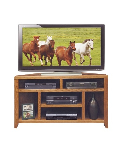 "Legends Furniture City Loft 52"" Corner TV Cart, Golden Oak"