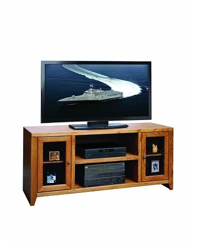"Legends Furniture City Loft 60"" TV Console, Golden Oak"