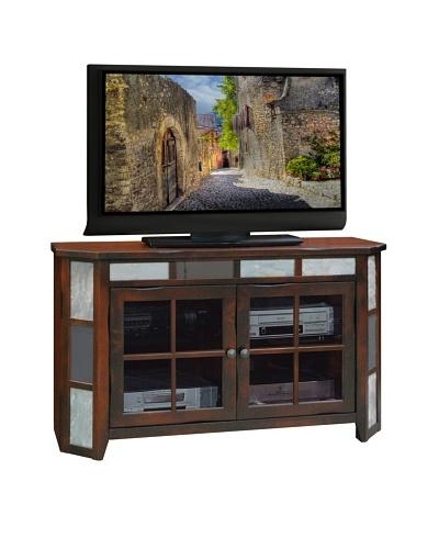 Legends Furniture Fire Creek 51 Angled TV Console, Danish Cherry