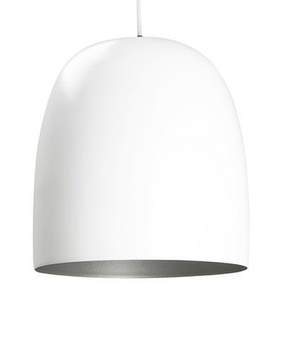 Leitmotiv Kalimero Pendant Lamp, White/Silver