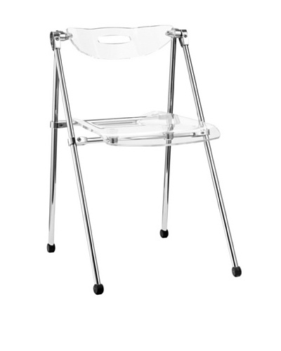 LexMod Telescoping Folding Chair, ClearAs You See