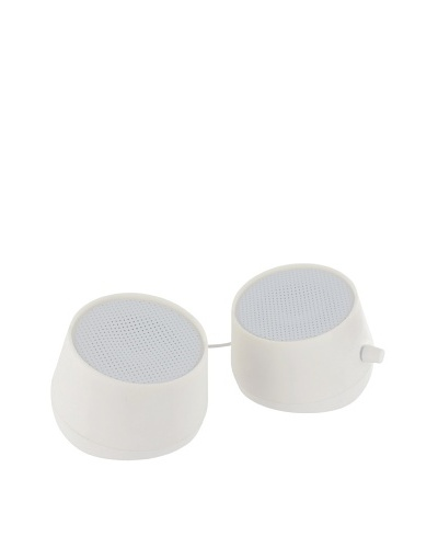 Lexon Galaxy Rechargeable Speakers, White